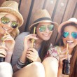 Female friends drinking cocktails — Stock Photo #73630143