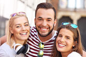 Group of happy friends — Stock Photo