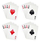 Four aces poker — Stock Vector
