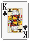 Jumbo index king of clubs — Stock Vector