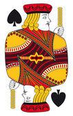 Jack of spades no card — Stock Vector
