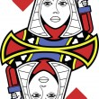 Stylized Queen of Hearts no card — Stock Vector #60262383