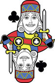 Stylized King of Clubs no card — Stock Vector