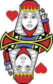 Stylized Queen of Hearts no card — Stok Vektör