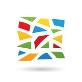 Colorful Mosaic Abstract Icon — Stock Vector