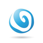 Blue Swirl Abstract Icon — Stock Vector