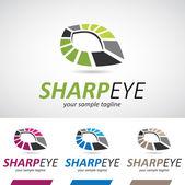 Abstract Geometric Eye Logo Icon — Stock Vector