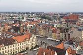 Central square of the city of Wroclaw — Stok fotoğraf