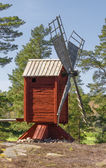 Old windmill on a small hill — ストック写真