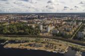 View of the Tampere from the observation deck — Stock Photo