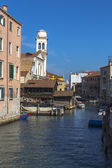 Canal and the Church of San Trovaso in Dorsaduro — Stock Photo