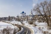 Female Orthodox monastery in the village of Bogolyubovo — Stock Photo