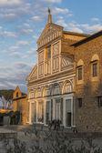 Facade of the church of San Miniato al Monte — Stock Photo
