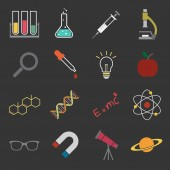 Science icon — Vetor de Stock