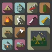 Camping equipment icon — Stock Vector