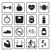 Health and Fitness icon — 图库矢量图片