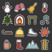 Winter icon — Stock Vector