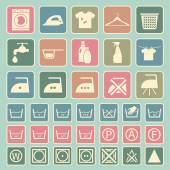 Laundry and washing icon — 图库矢量图片