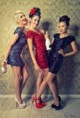 Party chicks, glamours women — Stock Photo