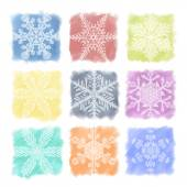Snowflake Pastels Set — Stock Vector