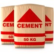 Bags of cement — Stock Photo #63779125