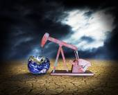 Shortage of oil resources - Elements of this image furnished by  — Stock Photo