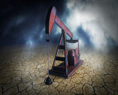 Shortage of oil resources — Stock Photo