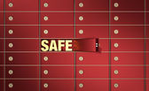 Safe deposit boxes — Stock Photo
