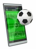 Fußball und neue Kommunikationstechnologien — Stockfoto