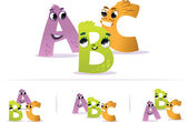 Alphabet for the kids: ABC — Stok Vektör