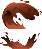 Illustration of Chocolate Splash: Wave — Stock Vector