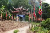Portão de entrada principal para o pagode. Vietname. — Fotografia Stock
