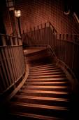 Stairway going down in a building — ストック写真
