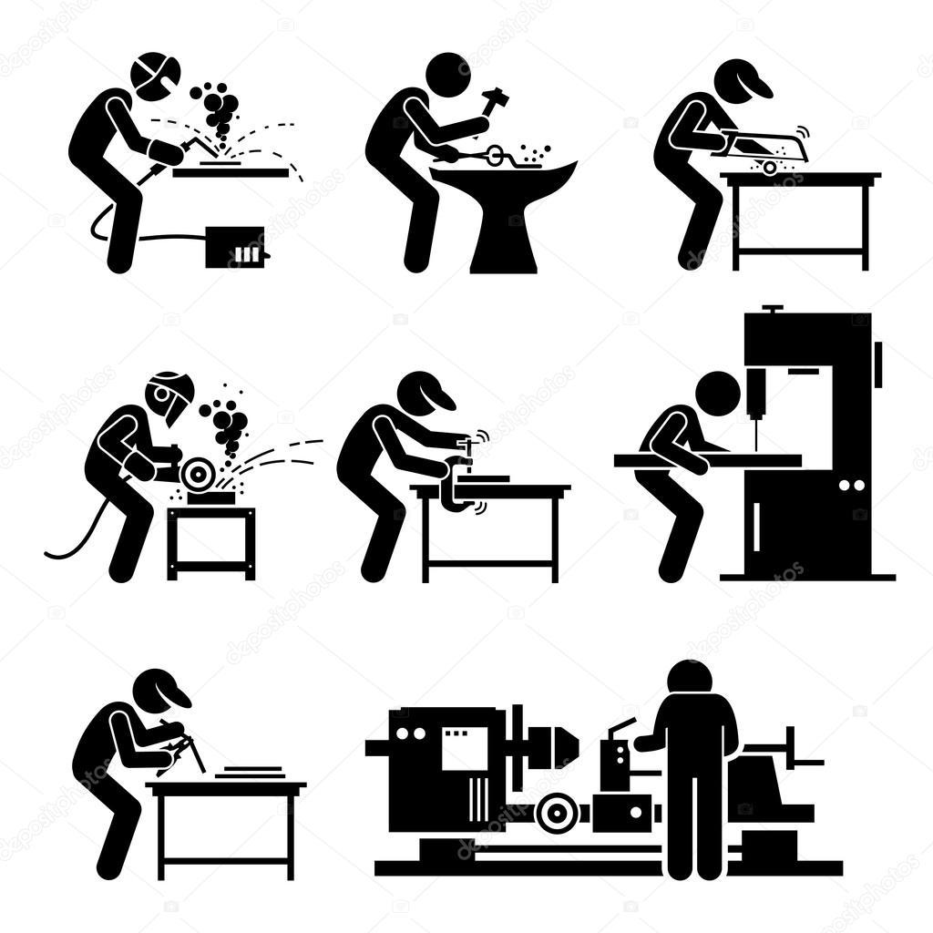 ouvrier soudeur l 39 aide de m tallurgie aci rie outils et du mat riel pour les travaux de. Black Bedroom Furniture Sets. Home Design Ideas