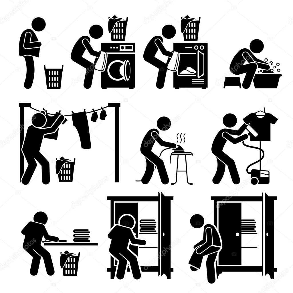 uvres de lessive lavage v tements pictogramme image vectorielle 102568438. Black Bedroom Furniture Sets. Home Design Ideas