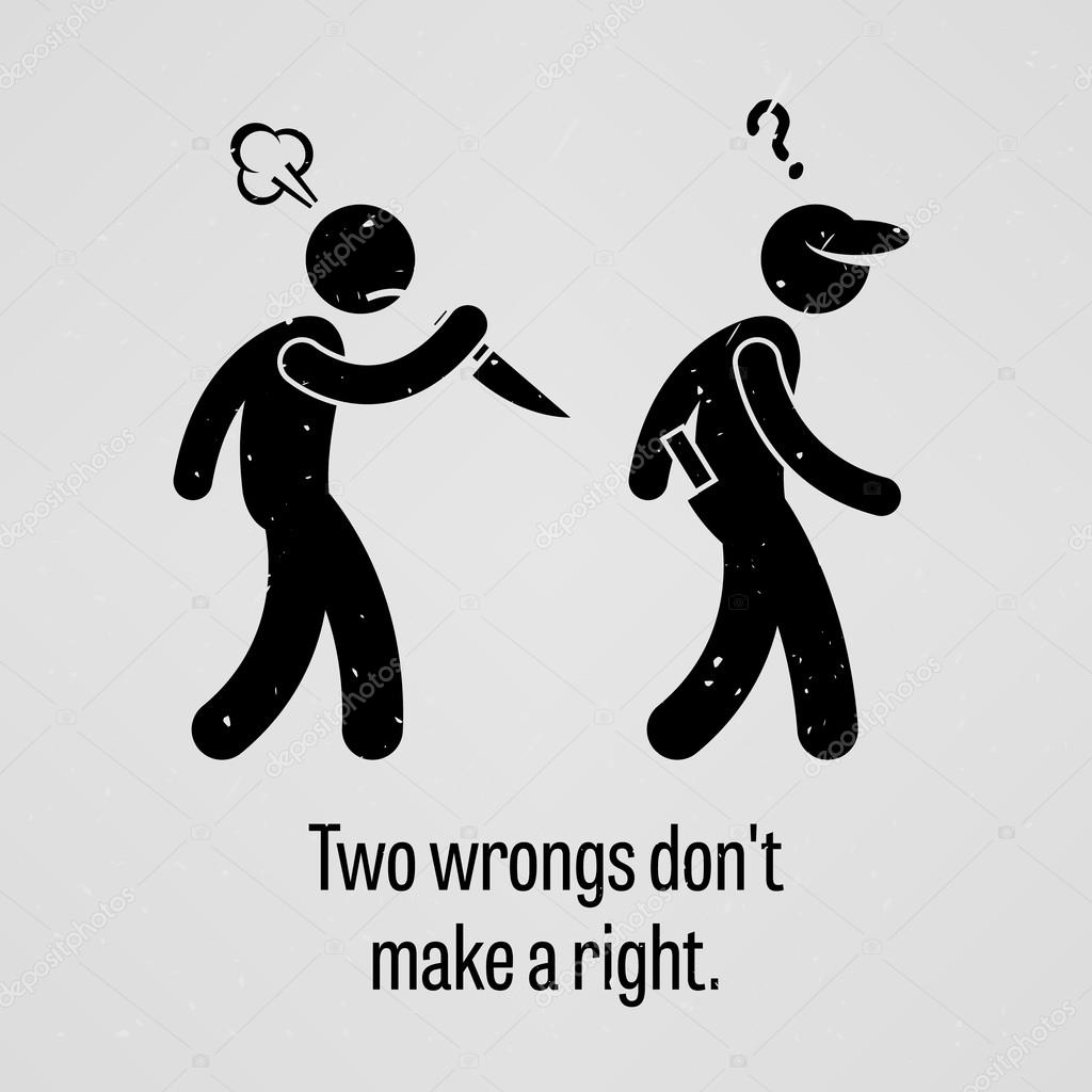 Two Wrongs Make a Right
