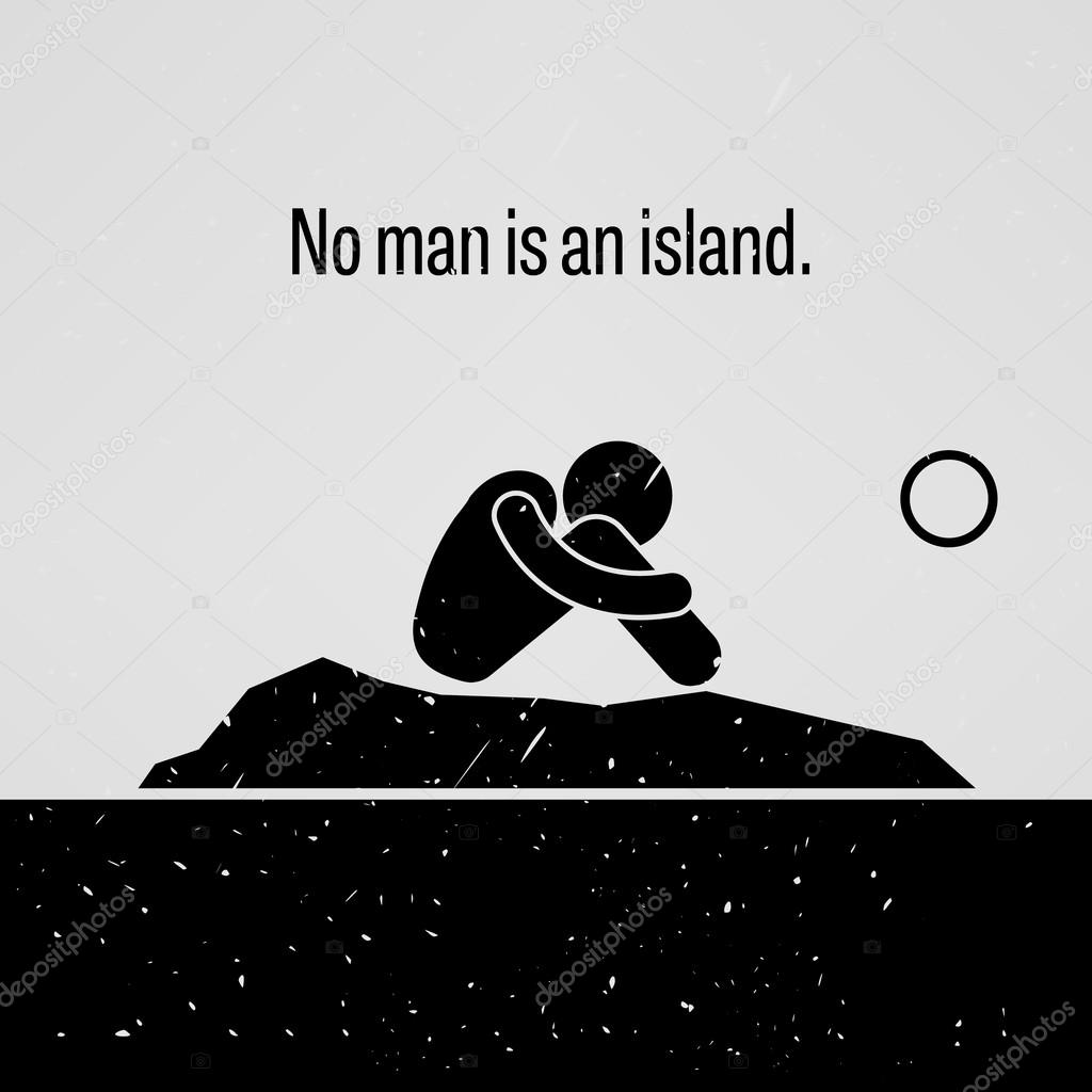 no man is an island stick figure pictogram sayings stock free vector stick figure stick figure vector download