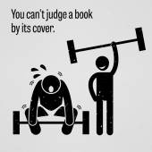 You Cannot Judge a Book by its Cover — Stock Vector
