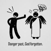 Danger Past, God Forgotten — Stock Vector