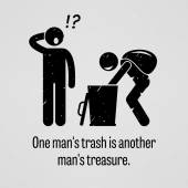 One Man Trash is Another Man Treasure — Wektor stockowy