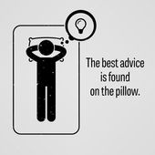 The Best Advice is Found on the Pillow — Stock Vector