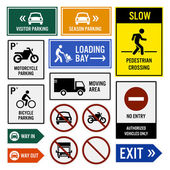 Parking Area Compound Signs Signboards — Stock Vector