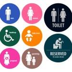 Toilet Signs Restroom Signboards — Stock Vector #67067051