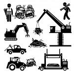 Junkyard Scrap Metal Steel Car Junk Yard Pictogram — Stock Vector #82474004