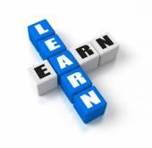 Learn Earn — Stock Photo