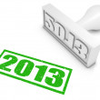 2013 Rubber Stamp — Stock Photo #54145213
