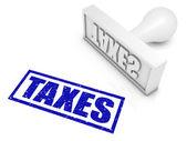Sello de goma de impuestos — Foto de Stock