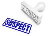 Suspect Rubber Stamp — Stock Photo