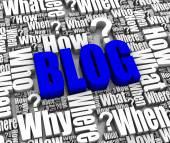 Preguntas de blog y respuestas — Foto de Stock
