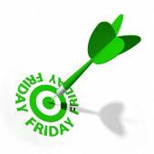 Friday Target — Stock Photo